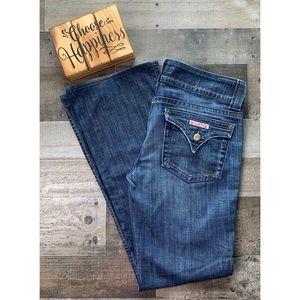HUDSON Dark Denim Flap Pocket Boot Cut Jeans 29